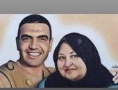 هنيدى وليلى علوى ينعيان والدة الشهيد المنسى: متجمعين فى الجنة
