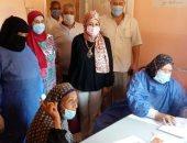 توقيع الكشف الطبى على 664 حالة من أهالى قرية كفر أبو جندى بالغربية