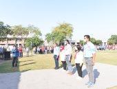 جامعة أسيوط تؤدى مراسم تحية العلم وسط إجراءات إحترازية مشددة