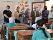 محافظ بورسعيد يؤكد انتظام الدراسة مع تطبيق الإجراءات الاحترازية.. صور