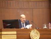عبد الوهاب عبد الرازق يتسلم رئاسة جلسة الشيوخ بعد فوزه ويلقى كلمة