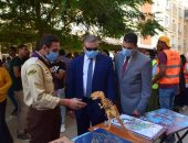 تجارة الإسكندرية تنظم حملة توعوية ضد المخدرات فى أول يوم دراسى.. صور