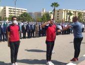 جامعة الفيوم تستقبل العام الجامعى الجديد بتحية العلم.. صور