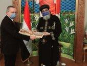 سفير موسكو بالقاهرة يلتقى البابا تواضروس ويناقش تعزيز العلاقات الثنائية