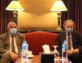 وزير الرى يستقبل سفير الاتحاد الأوروبى على هامش أسبوع القاهرة للمياه