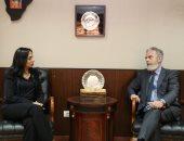 رئيسة القومى للمرأة تستعرض مع سفير البرازيل جهود المجلس للنهوض بأوضاع المرأة المصرية
