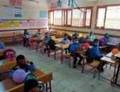 بالونات وعلامات تباعد.. مدرسة وادى الملكات بالأقصر تستقبل التلاميذ (صور)