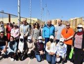 صور.. رئيس جامعة مدينة السادات يدشن اليوم الرياضى للطلاب