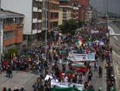 صور.. تواصل احتجاجات السكان الأصليين فى كولومبيا للمطالبة بإنهاء أعمال العنف