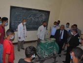 محافظ المنيا يتابع انتظام الدراسة بالمدرسة الثانوية الميكانيكية العسكرية