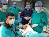 """إنقاذ مريض من بتر ساقه المصابة بـ""""الغرغرينا"""" بمستشفى طنطا التعليمى"""