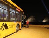 وزير السياحة يفتتح أول مطعم سياحى بالأهرامات ويشهد تشغيل أول حافلة كهربائية