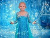 """""""أريانا"""" 5 سنوات مصابة بسرطان الكلي تتألق في جلسة تصوير أميرات ديزنى"""