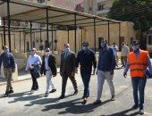 نائب محافظ بني سويف يتفقد الأعمال النهائية لتطوير سوق ترعة البوصة.. صور
