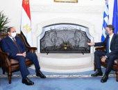السيسى يبحث مع رئيس وزراء اليونان جهود مكافحة الإرهاب والمستجدات في المنطقة