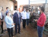 وزيرة البيئة ومحافظ القليوبية يتفقدان منشآت صناعية بمنطقة العكرشة بالقليوبية