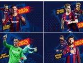 رسميا.. برشلونة يعلن تجديد عقد الرباعى بيكيه وتير شتيجن ودى يونج ولينجليت
