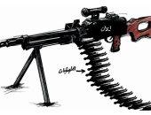 كاريكاتر  سعودى ..إيران وقود وموطن تفريخ المليشيات المسلحة فى المنطقة