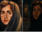 ليلى علوى تشارك بصورة بورتريه لشخصية مانويلا التى جسدتها فى المصير