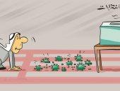كاريكاتير صحيفة كويتية .. كورونا يقف حائلا بين المواطنين وصندوق الانتخاب
