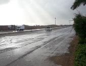 سقوط أمطار غزيرة على عدد من مدن كفر الشيخ