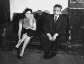 شادية فى صورة نادرة مع والدها بخمسينيات القرن الماضى