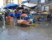 قارئ يشارك بصور لغرق مدينة بلطيم بكفر الشيخ بالمياه نتيجة سقوط الأمطار