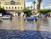 قارئ يشارك بصور لغرق مدينة رشيد بكفر الشيخ بالمياه نتيجة سقوط الأمطار