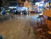 شفط مياه الأمطار بمدينة بلطيم فى كفر الشيخ.. صور وفيديو