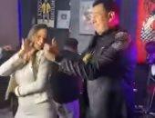 الراقصة البرازيلية لورديانة ترقص مع محمود الليثى فى فيديو جديد بنفس الفستان