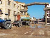 تحسن الأحوال الجوية بكفر الشيخ واستمرار رفع مياه الأمطار.. صور