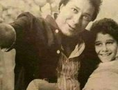 صورة نادرة للعمدة صلاح السعدنى ونجله أحمد بمرحلة الطفولة