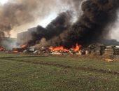 """إصابة مزارعين فى حريق اندلع بـ""""قش أرز"""" بقرية القبة بالشرقية"""