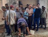 إصلاح خط غاز بالعامرية غرب الإسكندرية.. صور