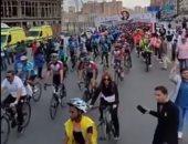 وزير الشباب يقود ماراثون للدارجات على محور المحمودية بالإسكندرية.. فيديو