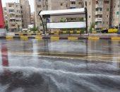 هطول أمطار غزيرة وسط الإسكندرية.. فيديو وصور