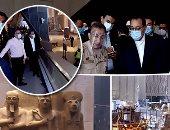 رئيس الوزراء يتفقد المتحف الكبير.. ويشدد على الالتزام بالإجراءات الاحترازية للحماية من كورونا.. نقل 54055 قطعة أثرية حتى الآن.. وإنجاز 97% من الأعمال الهندسية وتطوير المنطقة المحيطة بالمتحف نهاية العام الجاري