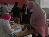 إقبال كثيف على التصويت بانتخابات النواب بلجنة الشهيد أحمد إبراهيم فى الجيزة