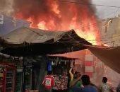 شهود عيان عن حريق سوق محطة مصر بالإسكندرية: سرقة التيار الكهربائى السبب