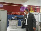 رئيس نادى القضاة بالبحيرة يدلى بصوته فى انتخابات مجلس النواب