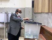 وزير الداخلية الأسبق يدلى بصوته فى انتخابات مجلس النواب بالدقى.. صور
