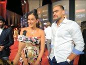 """أمينة خليل لـ""""تليفزيون اليوم السابع"""": كلنا هنا لدعم أحمد مالك.. وهتفرج على كل الأفلام القصيرة"""