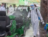 تعقيم 5600 عربة مخصصة لحماية المصلين من كورونا بالمسجد الحرام.. صور