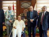 رئيس النيابة الإدارية يستقبل وفد لجنة المرأة ذات الإعاقة بالمجلس القومى للمرأة