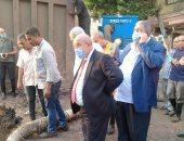 رئيس شركة مياه القاهرة يتابع إصلاح خط مياه حدائق القبة.. 54 معدة لشفط المياه
