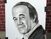 """""""مينا"""" من أسيوط يشارك بلوحة للفنان الراحل محمود ياسين"""