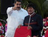 رئيس بوليفيا السابق يزور فنزويلا سرا.. مادورو: إيفو أهدانى كتابا عن تجربة المنفى