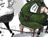 كاريكاتير صحيفة سعودية.. الميليشيات خطر يواجه مستقبل ليبيا