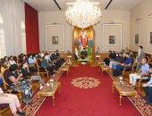"""وزيرة الهجرة: """"الوطن للجميع"""" رسالة لقاء البابا تواضروس مع طلابنا بالخارج.. صور"""