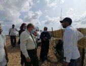 رئيس هيئة حماية الشواطىء يتفقد مشروع تعزيز التكيف مع تغير المناخ بكفر الشيخ